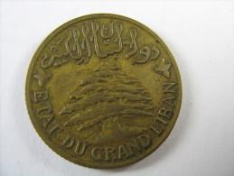 LEBANON LIBAN  5  PIASTRES 1931 NICE COIN LOT 20 NUM 9 - Liban