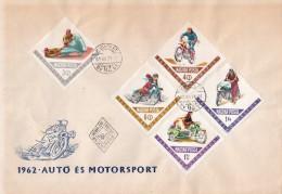 Hungary Set On 2 FDCs - Motorbikes