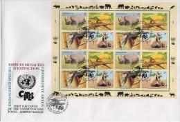 ONU - UNO (1995) - FDC -   /  CITES - Endangered Species - Especes Menacees Extinction - Birds - Parrots - ONU