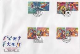 ONU - UNO (1996) - FDC -  /  Sports - Gymnastics - Cycling - Athletics - Basketball - Volleyball - ONU