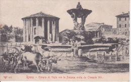 CPA Roma - Tempio Di Vesta Con La Fontana Eretta Da Clemente XI (4013) - Autres Monuments, édifices