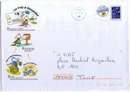 Entier Postal Pour La Réexpédition Du Courrier De Particulier PRET A REEXPEDIER 1/2 Format C5 - Entiers Postaux