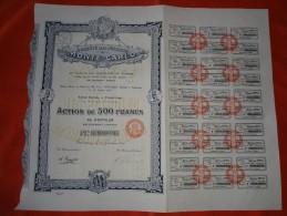 Action De 500 Francs - Société Des Pétroles Monte Carlo à Tourcoing - 1919 - Aardolie