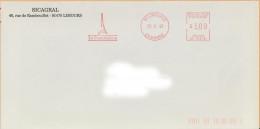 EMA SV 12518 Limours 91 + Flamme La Francilienne Sur Env Sicagral - Tour Eiffel - EMA ( Maquina De Huellas A Franquear)