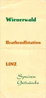 Speisekarte Wienerwald Linz Brathendlstation Brathendl Hendl Backhendl Menu Bier Chicken Österreich Hendl Austria - Menükarten