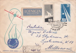 Poland 1958 Registered Cover To Australia - 1944-.... Republic