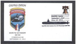 UNITED STATATES OF AMERICA 2012. SPECIAL POSTMAR. SUBMARINE USS MISSISSIPPI. - Submarines