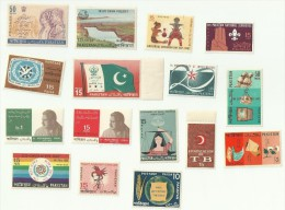 Medical Health Disease TB Cancer Crab Tourism Flag Scout Cotton Jute Rice Agriculture Export Pakistan 1967 Year Pack MNH - Pakistan