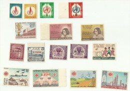 Armed Forces Tank Fighter Jet Warcraft Children Day Atomic Nuclear Reactor Development WHO Pakistan 1968 Year Pack MNH - Pakistan