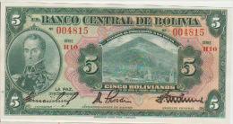Bolivia 5 Bolivianos 1928  Pick 120 UNC - Bolivie