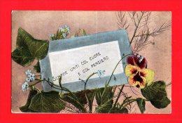 [DC5515] CARTOLINA - RINGRAZIAMENTI - SEMPRE UNITI COL CUORE - FIORI - Viaggiata 1908 - Old Postcard - Cartoline