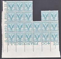 ITALY  78 X 20     ** - 1900-44 Vittorio Emanuele III