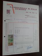 CANTINEAU  & Fils Voyages / QUAREGNON 1969 / Tax Zegels ( Zie Foto Voor Details )! - Sports & Tourisme