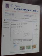 A. CANTINEAU & Fils Voyages / QUAREGNON 1968 / Tax Zegels ( Zie Foto Voor Details )! - Sports & Tourisme