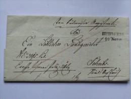 AUSTRIA 1843 ENTIRE FROM BUDWEIS BOHMEN TO SCHEIBBS - ...-1850 Préphilatélie