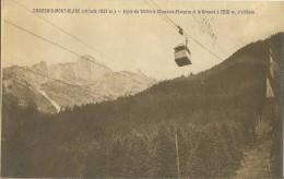 Chamonix Mont-Blanc Ligne Du Téléféric Chamonix_Planpraz Et Le Brévent à 2525m D´altitude TBE - Chamonix-Mont-Blanc