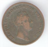 BADEN (DEUTSCHLAND) - 1 KREUZER (1844) - Carl Leopold Friedrich --- - [ 1] …-1871 : Stati Tedeschi