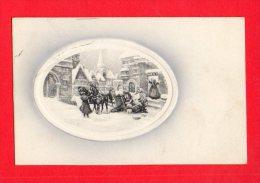 [DC5518] CARTOLINA - VIENNA - INCIDENTE CARROZZA - CAVALLI - NEVE - IN RILIEVO - Viaggiata - Old Postcard - Vienna