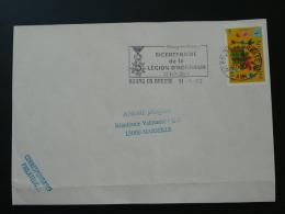 01 Ain Bourg En Bresse Légion D'Honneur - Flamme  Sur Lettre Postmark On Cover - Napoléon