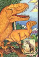 USA, Maximum Card, Prehistoric Animals, Dinosaurs, Daspletosaurus - Stamps