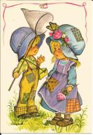 CPM Illustrée Jeanne Lagarde / Enfants, Filet à Papillon, Vêtements Rapiécés / Edit Lyna Paris 340/1 - Contemporanea (a Partire Dal 1950)