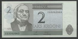 Estland Estonia Estonie 2 Krooni 2006 Banknote Karl Ernst Von Baer Universität Dorpat Tartu UNC - Estonia