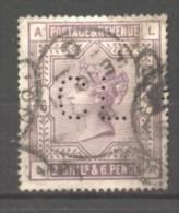 Grande Bretagne  N° 86 Oblitéré Perforé  Cote  125,00 €  Au Quart De Cote