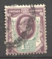 Grande Bretagne  N° 108 Oblitéré Perforé  Cote  15,00 €  Au Quart De Cote