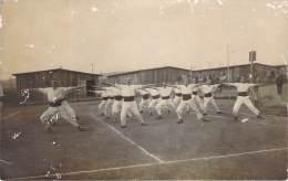 WW1 - Camp De Prisonniers De Guerre De Mannheim, Carte Photo, Gymnastique - Guerra 1914-18