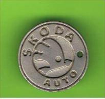 # 047  -  Spielmarke - Jeton - SKODA AUTO - Profesionales/De Sociedad