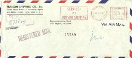 Registered Cover Hudson Shipping Co, New York 3/7/1956 To The Netherlands - Transportmiddelen