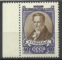 RUSSIA Russie Soviet Union 1959 Alexander Von Humboldt Michel 2224 MNH - 1923-1991 USSR