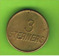 # 067  -  Spielmarke - Jeton - 3 STERNERS - Profesionales/De Sociedad