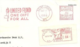 Cut Meter UNITES FUND ONE GIFT FOR ALL, Saint Louis 17/10/1958 Ema - Rode Kruis