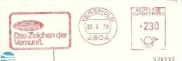 Nice Cut Meter FORD, Das Zeichen Der Vernunft, Versmold 28/3/1979 - Auto's