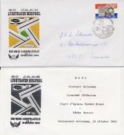 6 X Envelop Dag Van De Aerofilatelie - Met Adres / Open Klep + Menukaart! - Period 1980-... (Beatrix)