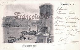 (13) Marseille - Fort St Saint Jean - 1899 - XIXe - Phot. Giletta - Carte En Très Bon état - Marseille