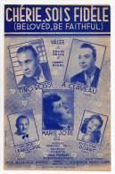 Partition Musical - Chérie, Sois Fidèle De Jacques Plante, Ervin Drake Et Jimmy Shirl- 1950 - Partitions Musicales Anciennes