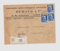94 – VAL DE MARNE (Ex. SEINE) « CACHAN »LRI 1er Ech. – Tarif à 13F.50 (1.3.1947/7.7.1947) - 1945-54 Marianna Di Gandon