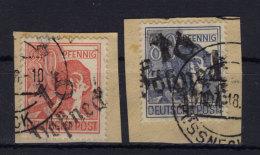 SBZ Handstempel Michel No. 176 , 180 gestempelt used Bezirk 16