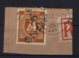 SBZ Handstempel Michel No. I m III (925) gestempelt used Briefst�ck Bezirk 16
