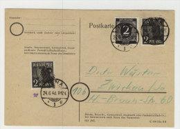 SBZ Handstempel Michel No. 166 III gestempelt used auf Brief Bezirk 16 / Altpr�fung