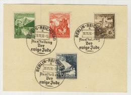 Deutsches Reich Michel No. 675 - 677 gestempelt used Der ewige Jude