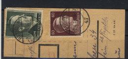 Deutsches Reich Michel No. 797 , 799 A gestempelt used Paketausschnitt