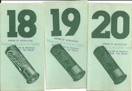 """BLATON  Maison CALLEWAERT   Armes Et Munitions  Cartes De Poste De Chasse Numerotées   """" COOPPAL"""" - Bernissart"""