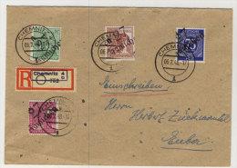 SBZ Handstempel Michel No. 177 , A 179 , 181 , I v V gestempelt used auf Brief / Bezirk 27