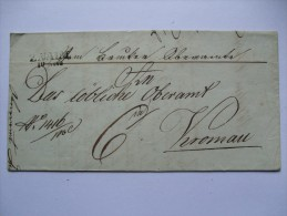 AUSTRIA 1842 ENTIRE FROM ZNAIM (ZNOJMO BOHMEN) TO KRONAU GERMANY FROM THE MONASTERY WITH 6 KREUZER MARK - Österreich