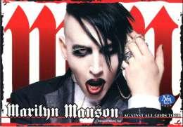 Rare Russian MARILYN MANSON POSTCARD Against All Gods Tour 2005 Portrait Photo - 19616 - Musique Et Musiciens