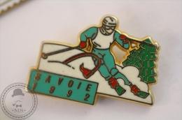 Arthus Bertrand Winter Olympic Games Savoie 1992 - Turquoise Colour - Pin Badge - #PLS - Arthus Bertrand