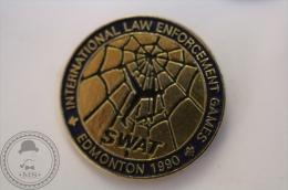 SWAT - International LAW Enforcement Edmonton 1990 - Pin Badge - #PLS - Policia